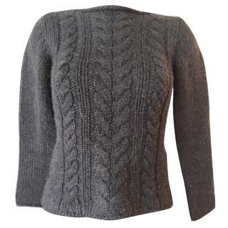 Pollini black wool alpaca sweater