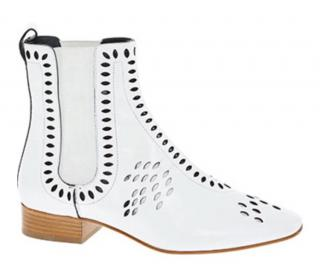 Dior Verso White Perforated Leather Boots
