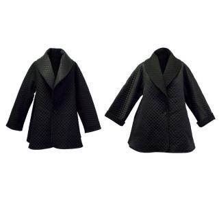 Temperley Black Diega Reversible Quilted Coat