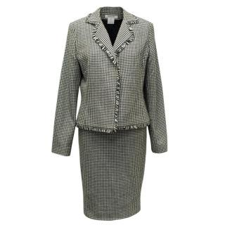 Georges Rech Dogtooth Patterned Skirt Suit