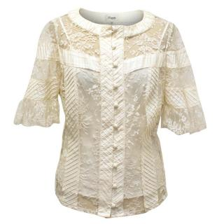 Temperley Cream Blouse with Lace