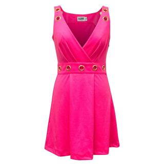 Alice by Temperley Hot Pink Sleeveless V-Neck Dress