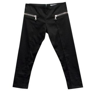 Les Chiffoniers Black Cropped Trousers