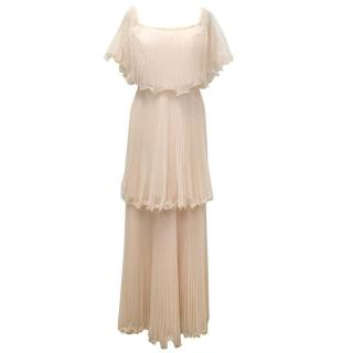 BCBG Max Azria Pale Pink Ruffle Dress
