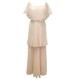 BCBG Max Azria Pale Pink Ruffle Dress
