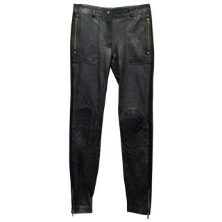 Alice by Temperley Leather Skinny Trousers