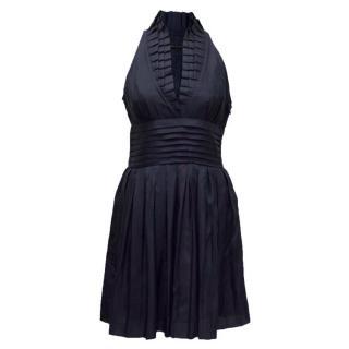 BCBG MaxAzria Navy Sleeveless Dress