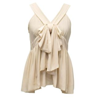 Moschino Cheap and Chic Cream Blouse with Bow Detail