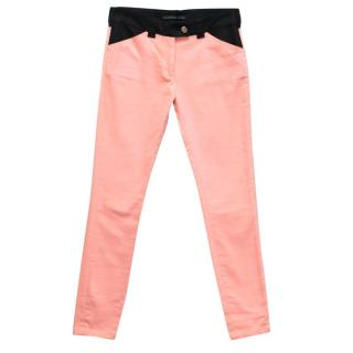 Balenciaga Pink Skinny Jeans with Black Trim