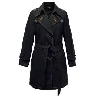 D&G by Dolce & Gabbana Black Coat with Orange Detailing