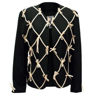 Moschino Cheap And Chick Black Blazer With Ribbon Details