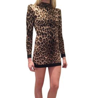 Balmain Leopard Print Mini Dress
