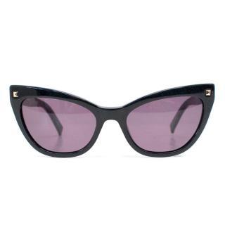 Max Mara 807K2 Black Cat-eye Sunglasses