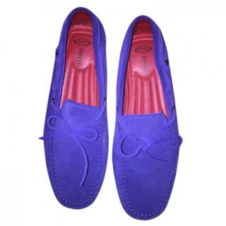 Tods Ferrari Limited Edition Electric Blue Loafers