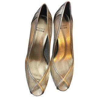 Stuart Weitzman Gold Heeled Shoes