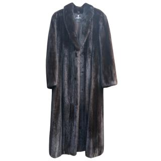 Certified USA Mink Fur Long Coat