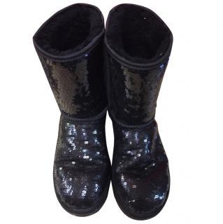 Ugg Black Sequin Boots