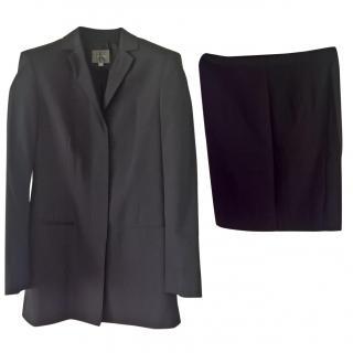 Calvin Klein dark grey skirt suit