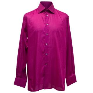 Richard James Men's Purple Cotton Shirt
