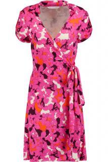 Jilda Two Pink Floral Wrap Dress