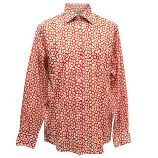 Richard James White Shirt With Red Circles