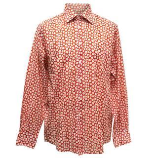 Richard James White Shirt With Red Circles