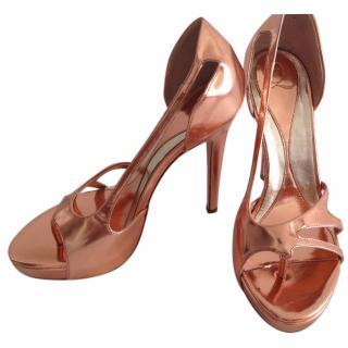 Alexander McQueen metallic heels