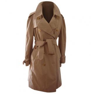 Aquascutum men's Aqua 5 double breasted trench coat