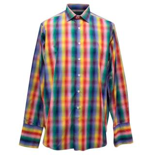 Richard James Men's Multicoloured Check Shirt