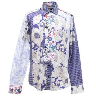 Raser Blue And White Patterned Shirt