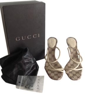Gucci Plaited Leather Sandals