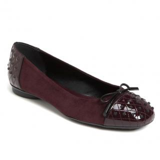 Tod's Ballerina Gommini Suede/Leather Flats