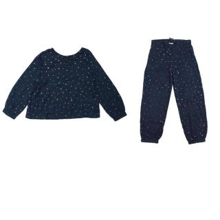 Zef Kids Two Piece Set Navy Top and Bottoms