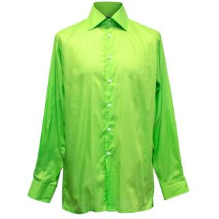 Richard James Men's Bright Green Shirt