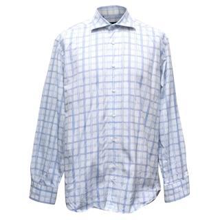 Etro White Checked Shirt