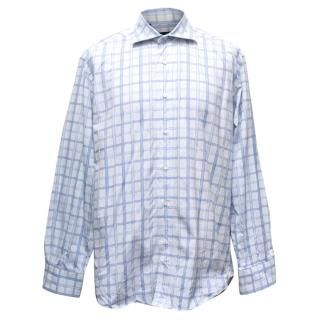 Etro White Checked Shirt