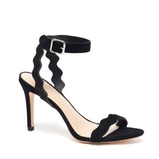 Loeffler Randall Scallop-Edged Strappy Sandals