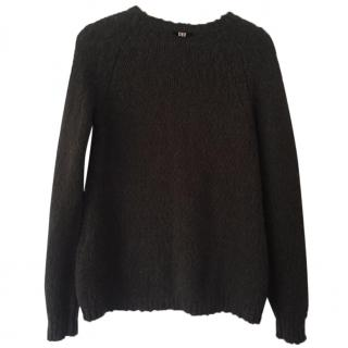 High by Claire Campbell Brown Alpaca & Virgin Wool Jumper
