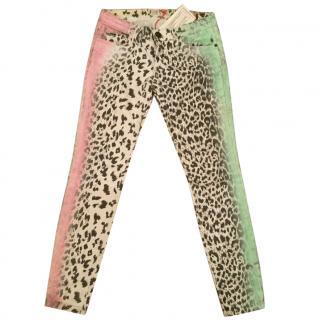 Current Elliott Neon Leopard jeans