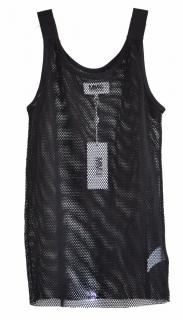 MM6 Maison Margiela black mesh top