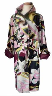 Pucci Art-Deco Wool Coat, Rare, Vintage