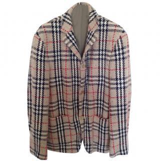 Burberry prorsum wool check vest