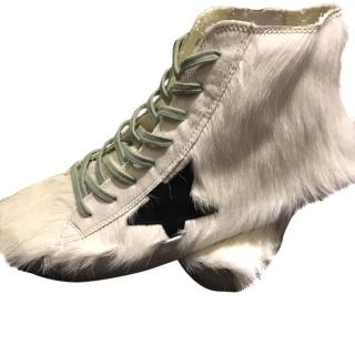 Golden Goose Francy Men's White fur sneakers