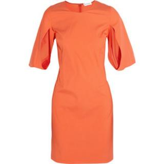Vionnet Orange Poplin Dress