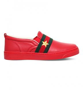 GUCCI kids Jackson leather trainers
