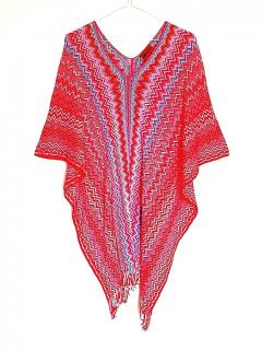 NEW MISSION Crochet Knit Cover Up/Poncho