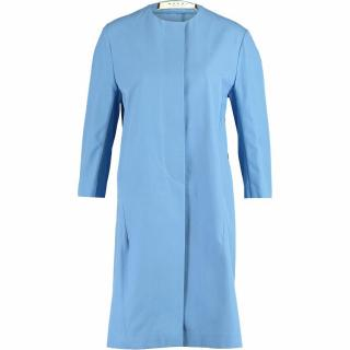 Marni blue cotton duster coat