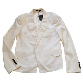 Lanvin runway white cotton jacket