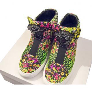 Versace Floral Print Sneakers