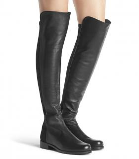 NEW: Stuart Weitzman Nappa over the knee leather boots in 38